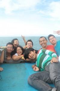 Perjalanan menuju pulau Tidung